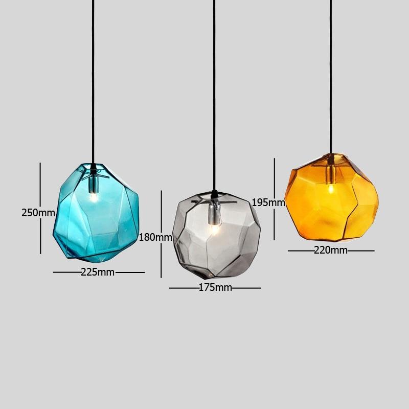 Image 5 - Modern Minimalist Pendant Lights Creative Colorful Glass Pendant Lamps Restaurant LED Lamps Indoor Home Lighting-in Pendant Lights from Lights & Lighting