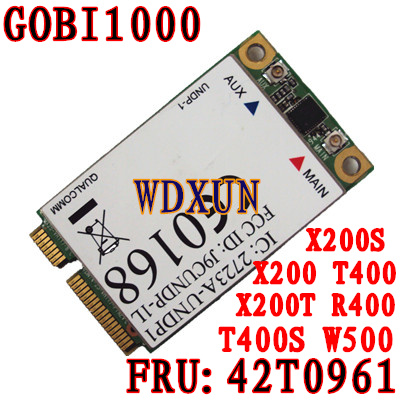 GOBI1000 UNDP-1 FRU: 42T0961 X200 X301 T400 W500 T500 3G vezeték - Hálózati berendezések