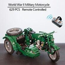 Cada Afstandsbediening Motorfiets Wapen Militaire Seires Model Bouwstenen Technic Speelgoed Kinderen Gift Met Originele Doos