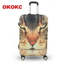 Okokc милые животные узор путешествия Чемодан защитный чемодан Крышка Чемодан крышка применить к 19-32 дюймов Чехол отлично эластичной