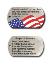 Wholesale Dog Tag Necklace-John 15:13 Christian jewelry Scripture Bible  hot sales pendants Necklace FH890386