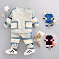 2017 New Spring Baby Boys Clothes Casual Sprots Children Clothing Set Hoody Coat+Pants Toddler Patchwork Tracksuits For Boys
