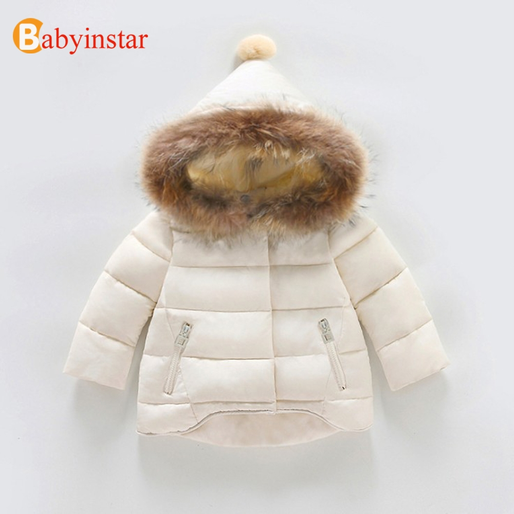 Babyinstar Kids Warm Down Parkas Coat 2018 New Floral Print Children Girls Snow Wear Ruffles Hooded