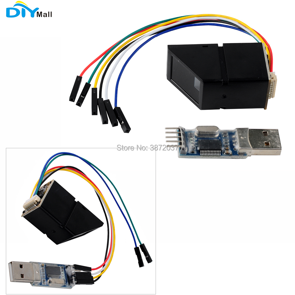 AS608 Optical Fingerprint Reader Sensor Scanner Module Door Lock with USB to TTL Serial Module for Arduino UNO|Home Automation Modules| |  - title=