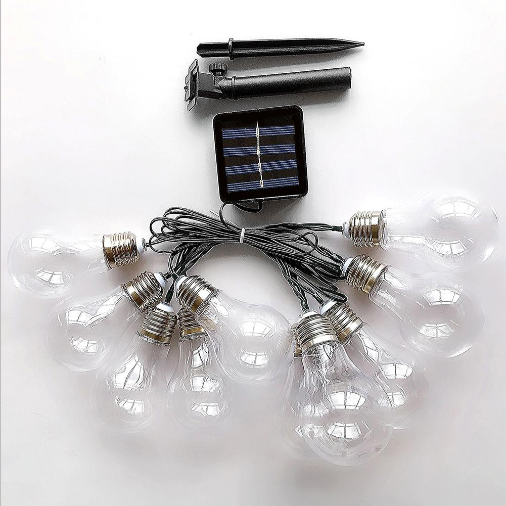 10/20 LED Outdoor Solar Powered String Light Garden Christmas Party Fairy Lamp 4M/6M for wedding birthday party string light fashionable high waist solid color zipper fly denim skirt for women