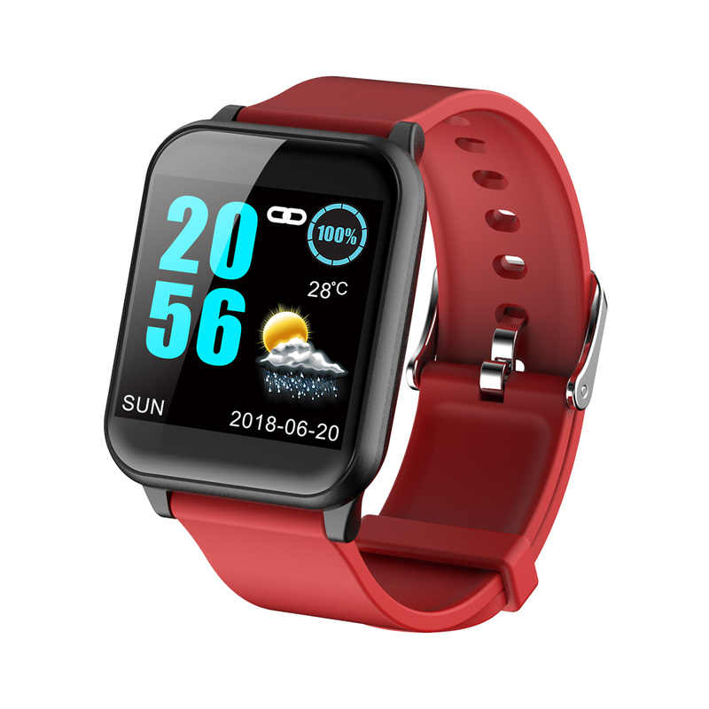 Colorful Screen Waterproof Bluetooth Sports Smart Watch Sport Pedometer Heart Rate Blood Pressure Monitor Watchs for IOS Android