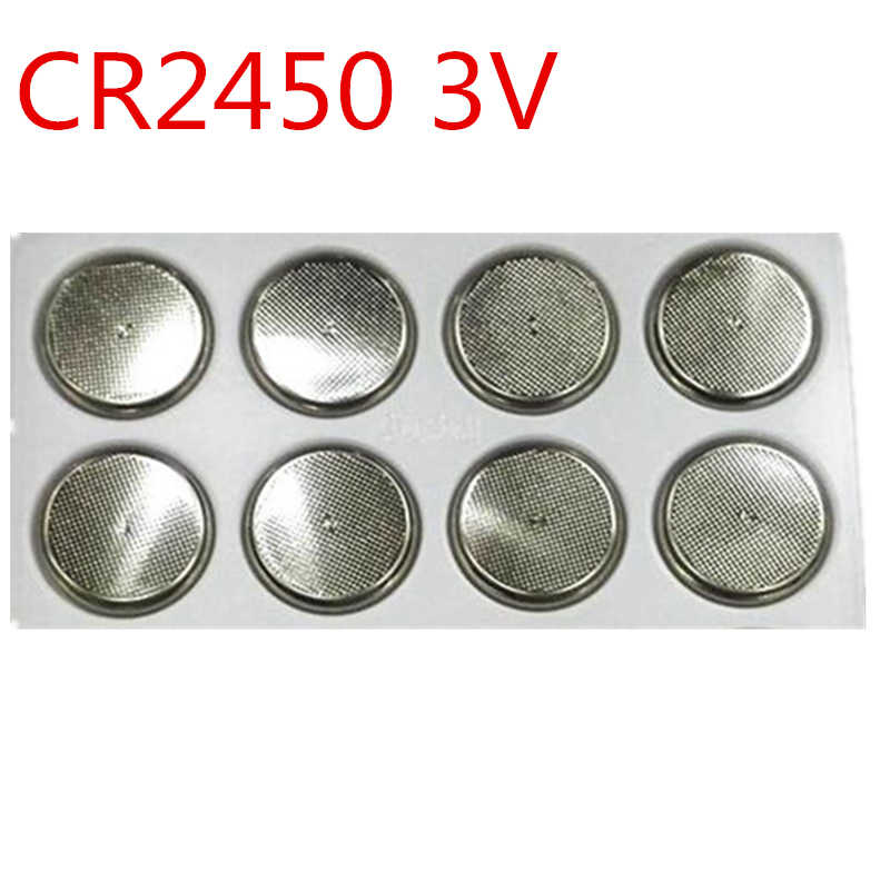 10 sztuk/partia CR2450 CR 2450 3 V litowa bateria pastylkowa bateria do samochodu sterowania