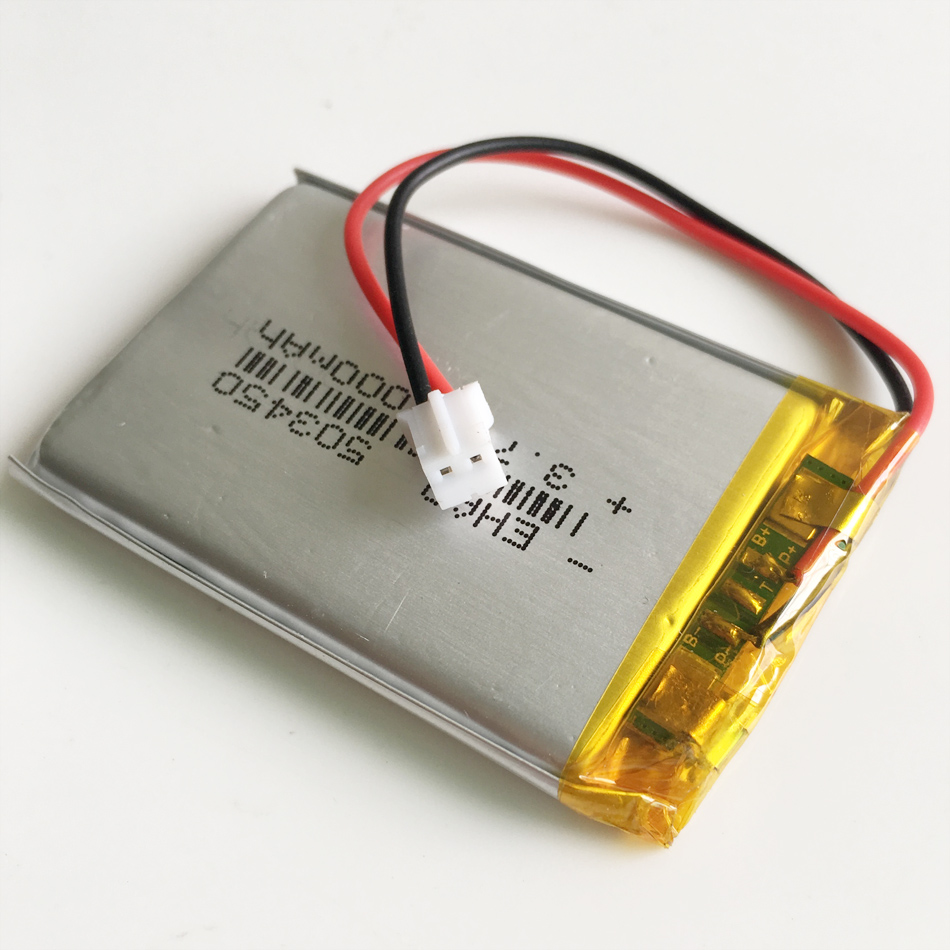 <font><b>3.7V</b></font> <font><b>1000mAh</b></font> 503450 Lithium Polymer LiPo Rechargeable <font><b>Battery</b></font> JST PH2.0 2pin For Mp3 DVD PAD smart watch camera recorder speaker image