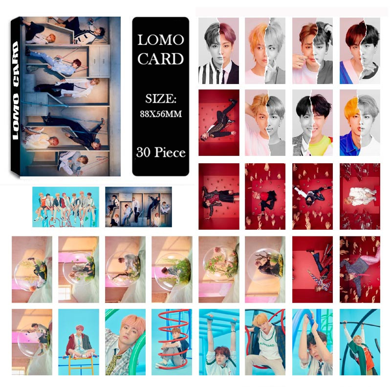 KPOP BTS Bangtan Boys LOVE YOURSELF Answer Album LOMO Cards New Fashion Self Made Paper