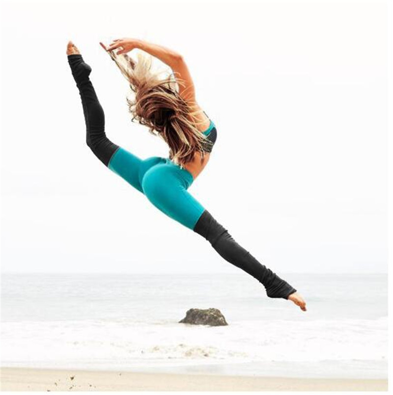 2017 Autumn And Winter sports yoga pants compression pants high elastic womens fitness gym sexy Slim Leggings step foot pants