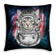 Maiyubo Maiyubo Universe Space Cat Pillow Covers Scandinavian Style Home Bed Decor Modern Cushion Cover with Hidden Zipper PC464(China)