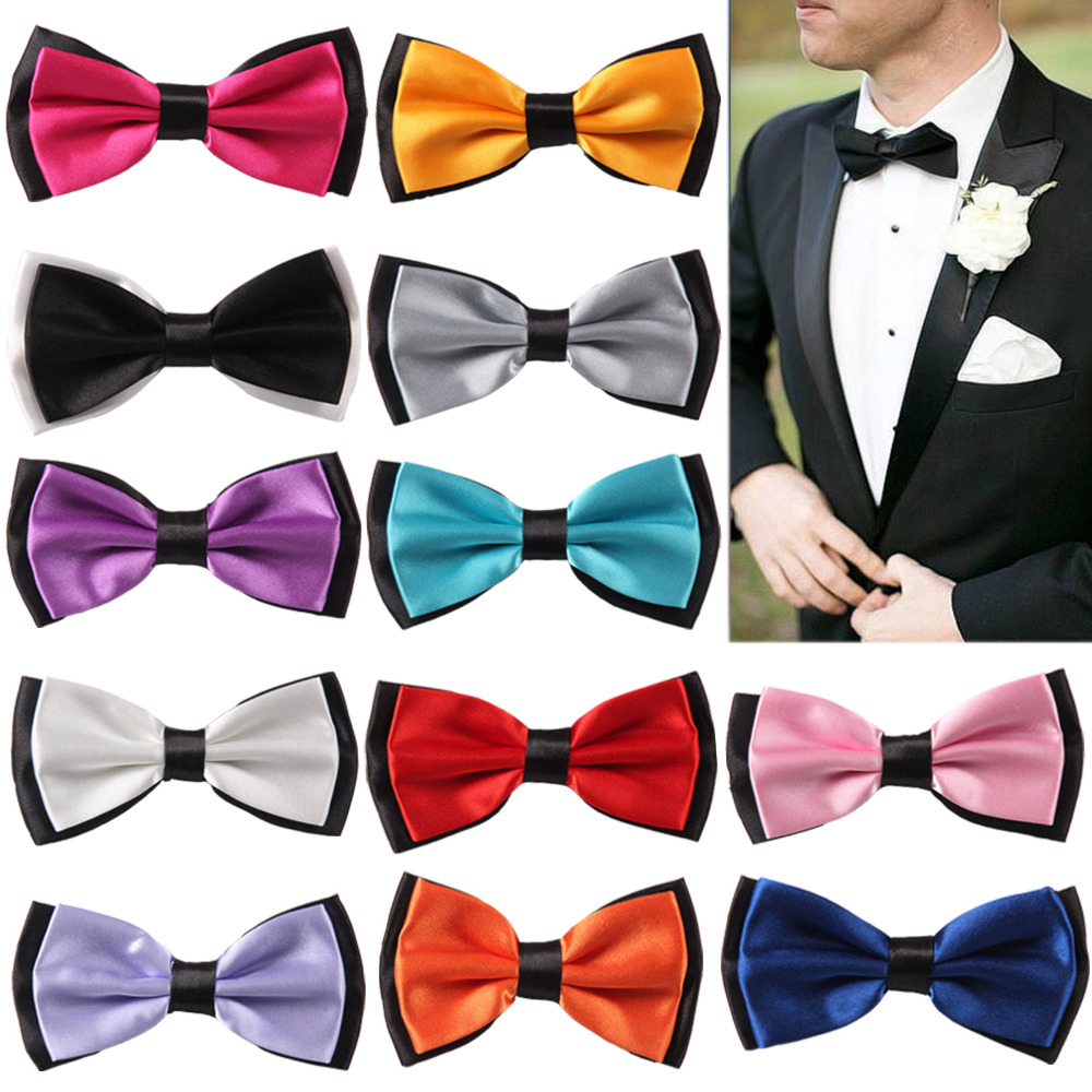 Bow Tie Classic Yellow Wedding Bowtie Novelty Men Adjustable CHRISTMAS GIFT