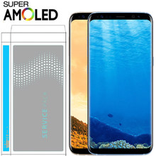ORIGINAL SUPER AMOLED S8 LCD with Frame for SAMSUNG Galaxy S8 G950 G950F Display S8 Plus G955 G955F Touch Screen Digitizer(China)