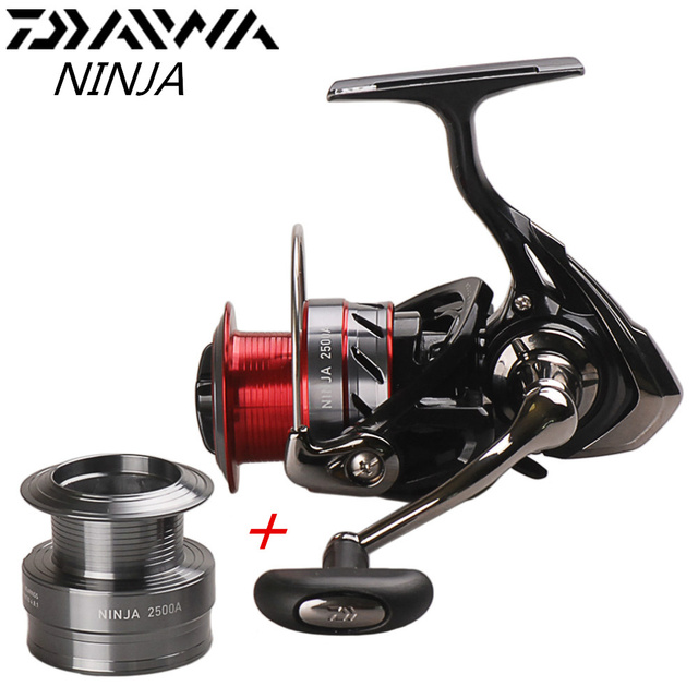 4ddf72e18a1 DAIWA NINJA 2500A 3000A 4000A Spinning Fishing Reel 4BB With Free Aluminum  Spool Carretes Pesca Lure