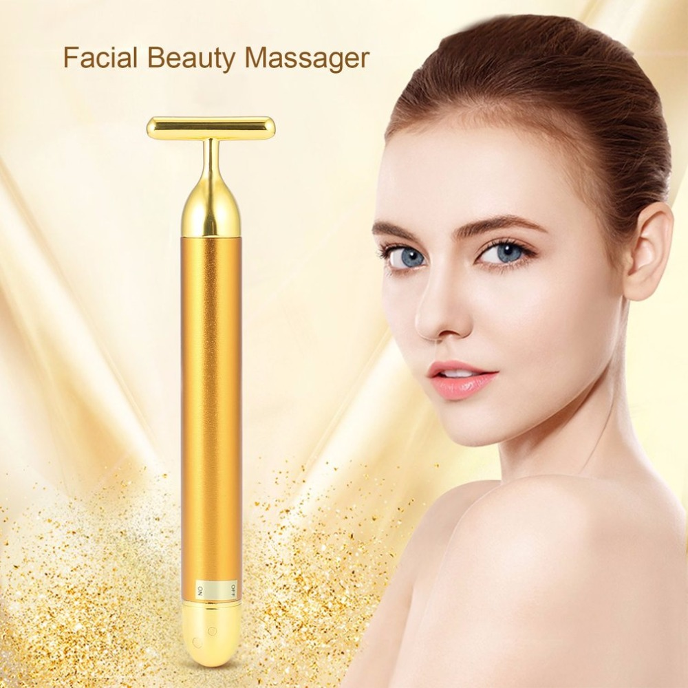 Small Size Facial Beauty Tool Facial Massager T Shape Facial Beauty Care Vibration Facial Beauty Massager Energy Vibrating Bar