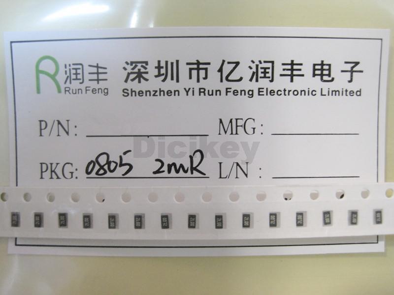 Бесплатная доставка 100 ШТ. 0805 R002 0.002R 2mR 0.5 Вт 1% ROHM Металлическая Фольга Низкоомных Низкий TCR Чип Резистор