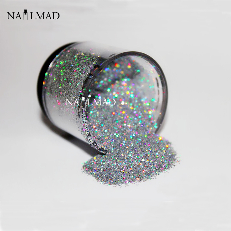 0.2mm Holographic Glitter Dust Powder Nails Art Holo Glitter Powders Nail Glitters 3ml