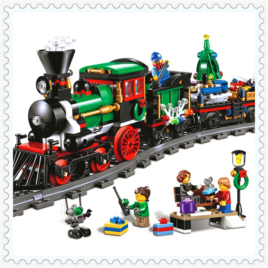 770Pcs Christmas Winter Holiday Train Model Building Block Toys LEPIN 36001 Educational Gift For Children Compatible Legoe lepin 22001 pirate ship imperial warships model building block briks toys gift 1717pcs compatible legoed 10210
