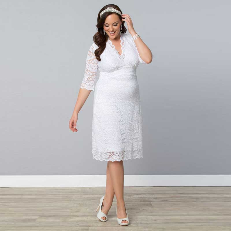 Take a Look at These Beautiful Simple White Dress Plus Size Photos ...
