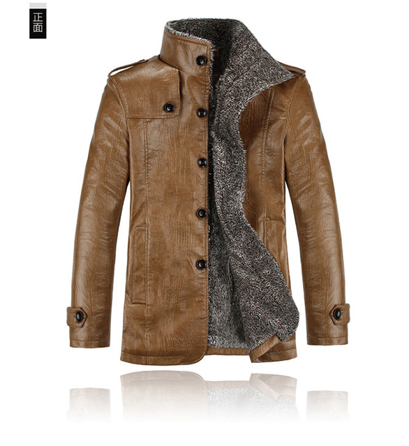 Aliexpress 2016 Spring autumn winter new Korean version hot sale men Thickening Warm PU Leather jackets china Cheap wholesale