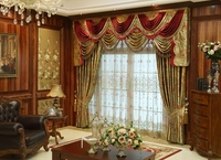 European style palace grade bronzing velvet shading curtain custom living room bedroom curtain product