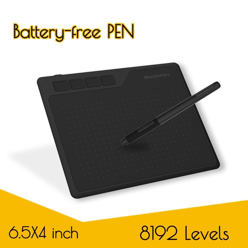 GAOMON S620 6,5x4 дюйма планшетный компьютер с рисунком из аниме, графический планшет для рисования и игры OSU с 8192 уровней Батарея-Бесплатная ручка