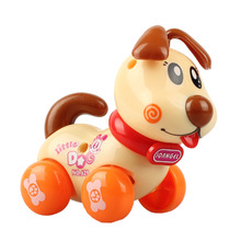 Free Shipping Children's Cartoon Clockwork Toy Dog Toys for Children Early Childhood Educational Toys Car Color and Style Random