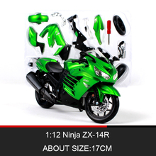 MAISTO Ninja ZX-14R Motorcycle Model Kit 1:12 scale metal Assembly DIY Motorcycle Bike Model Kit Toy For Gift Collection ohs tamiya 14093 1 12 yoshimura hayabusa x1 scale assembly motorcycle model building kits g