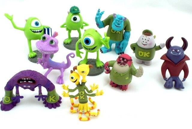 مجسم ألعاب مجسم صغير لشخصية الرسوم المتحركة مايك وازوسكي جيمس P. سوليفان 5 7 سنتيمتر 10 قطعة/المجموعة