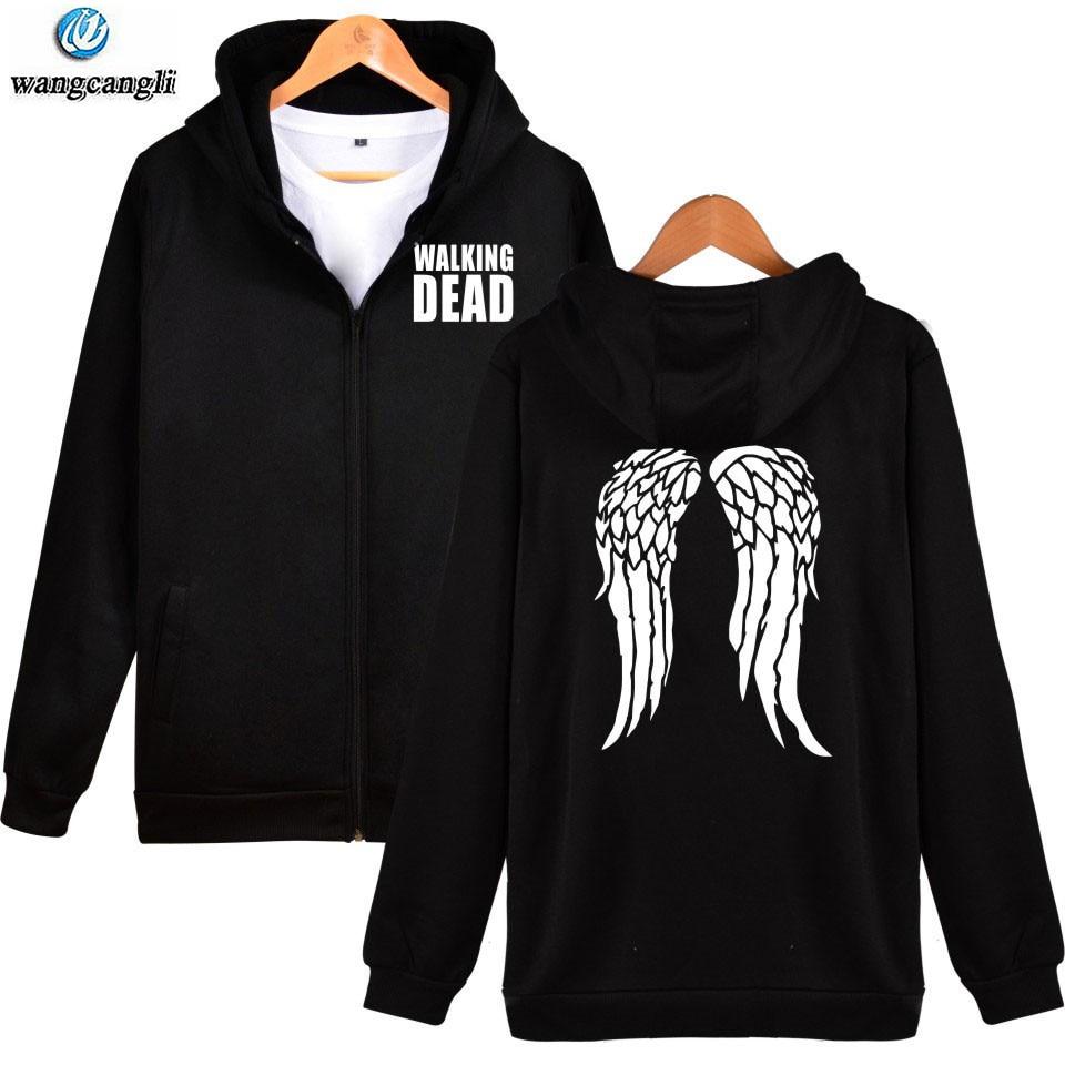 The Walking Dead hoodie sweatshirt Zombie Daryl Dixon Wings mens sweatshirts hoodies zipper cardigan men women Jacket coat XXXXL
