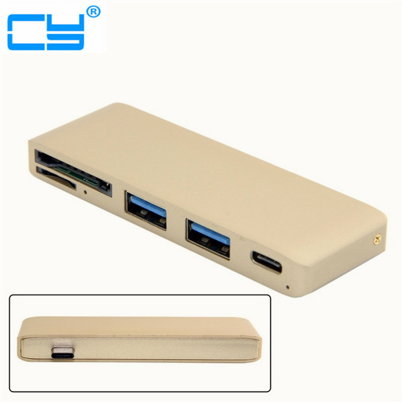 USB 3.1 Type-C USB-C Multiple 3 Ports 3.0 Hub & TF SD Card Reader With PD Power Charge For PC Laptop 668 usb 3 1 type c card reader