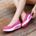 Горячие продажа 2017 весна женщины плоские туфли на платформе женщины воздухопроницаемой сеткой повседневная обувь мода платформы сандалии пятки женская обувь
