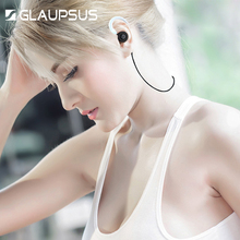 GLAUPSUS Metal Bluetooth Headset 4 1 Sports Earphone Noice Canceling Wireless Dual stereo Running In ear