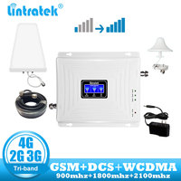 lintratek GSM 4G Repeater 2G 3G 4G Signal Booster Mobile Phone 900 DCS LTE 1800 WCDMA 2100 Tri Band Cell Phone cellular Repeater