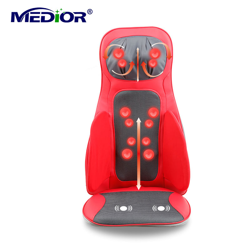 Electric Massage Cushion Electronical Rolling Shiatsu Kneading Massager with Heat Relieve Back Shoulder for font b