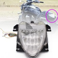 1pcs Clear Lens Motorcycle Integrated LED Park Brake Tail Light Turn Signal Brake Light Fit For