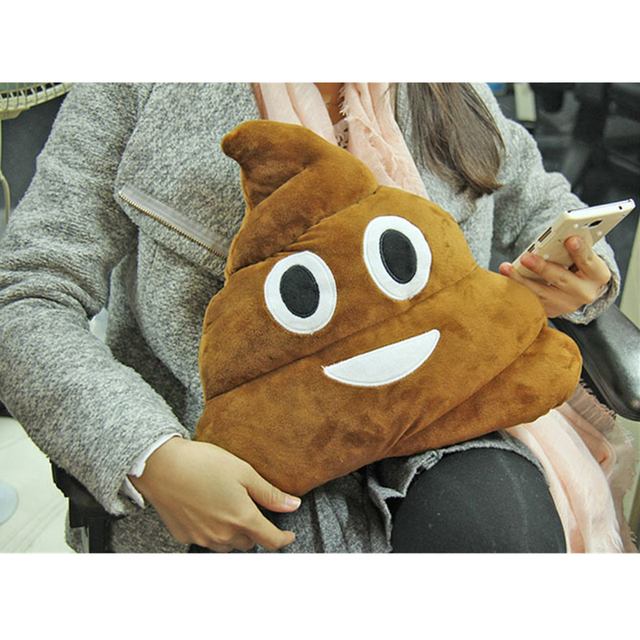 Poop Emoji Pillow Cushion Oi Smiley Funny Plush Emoticon Cute Stuffed Plush Soft Toys Doll Home Office Car Accessories