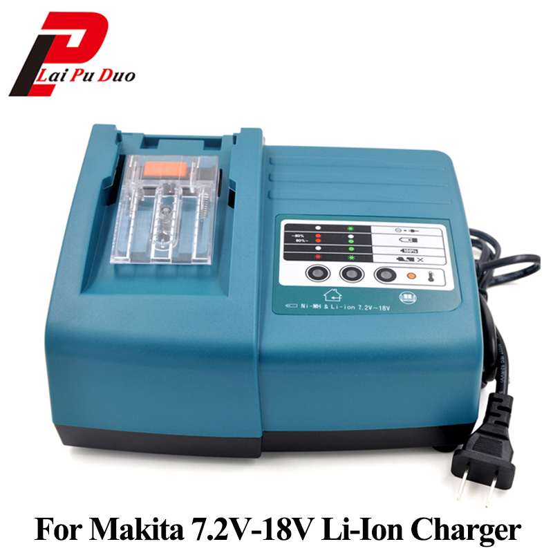 For 14.4V 18V Li-Ion 1.5A Replacement Power Tool Battery Charger For Makita BL1830 DC18RC BL1430 DC18
