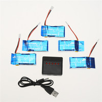 Useful 5 In 1 Balance Charger 5 Spare Li Poly Batteries 3 7V 850 MAh SYMA