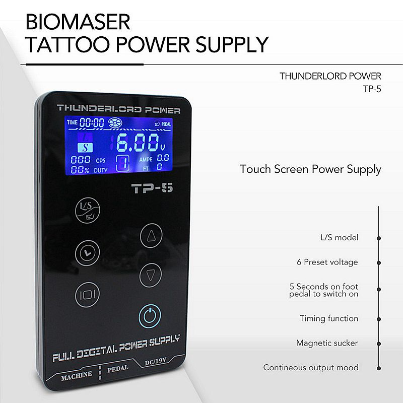 Tattoo-Power-Supply-HP-2-HURRICAN-UPGRADE-Touch-Screen-TP-5-Intelligent-Digital-LCD-Makeup-Dual