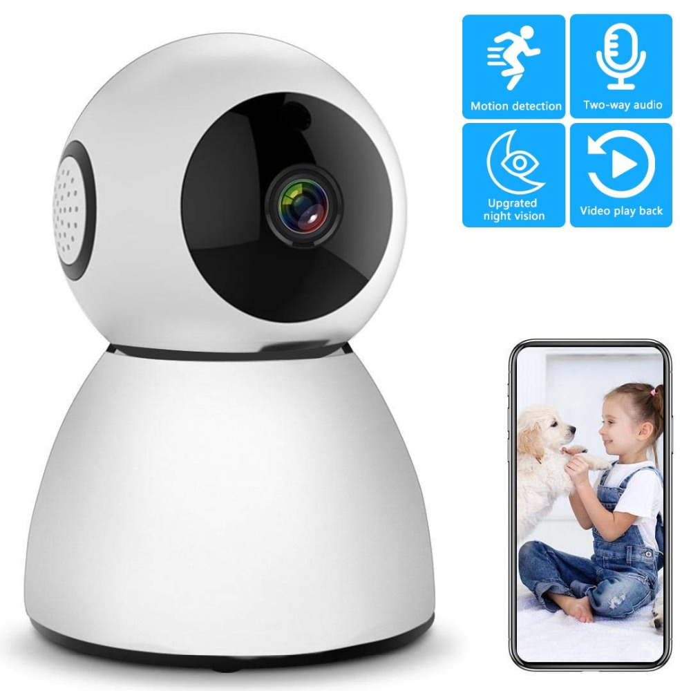 1080p HD IP Camera with Motion Tracker/2-Way Audio/Night Vision/APP Remote Control 2.4Ghz Wifi Indoor Home Security Smart Camere1080p HD IP Camera with Motion Tracker/2-Way Audio/Night Vision/APP Remote Control 2.4Ghz Wifi Indoor Home Security Smart Camere