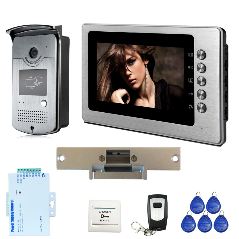 Free Shipping New Home Wired 7 inch Color Video Intercom font b Door b font Phone