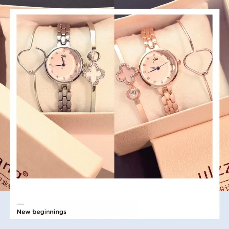 Fashion Women Bracelet Watches Ulzzang Style Rhinestone Luxury Elegant Popular Watches for Women Casual Ladies Clock 3 psc set elegant embossed rhinestone bracelet for women