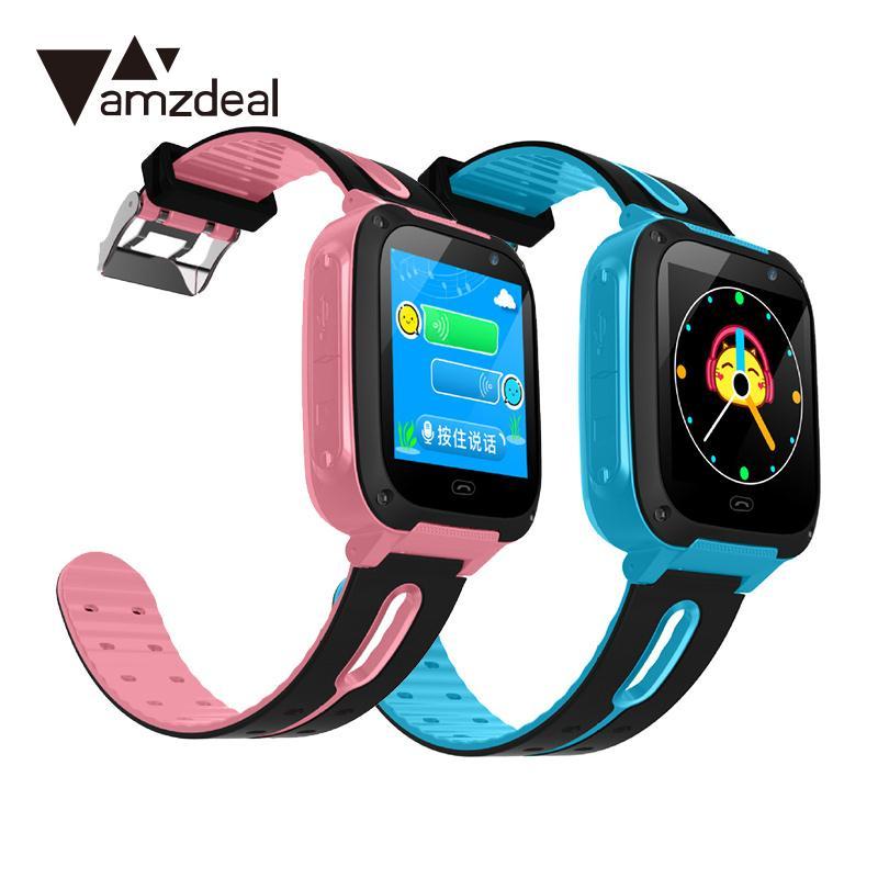 Kinder Kind 1,44 2.0MP Kamera Anruf Taschenlampe Tracker GPS Smart Uhr AU Mit Original Box Geschenk