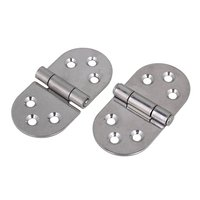 80x40x2mm Silver 304 Stainless Steel Hinge For Kitchen Cabinet Door Cupboard Pack Of 2