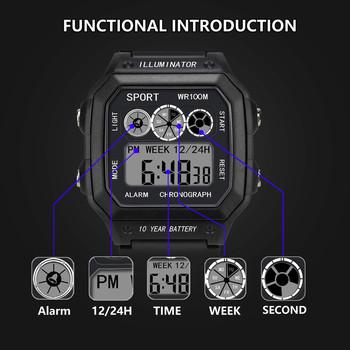 relogio masculino 2018 Watches Men Watch Electronic Digital Display Retro Style Clock Men Relogio Male reloj hombre Mens Watch