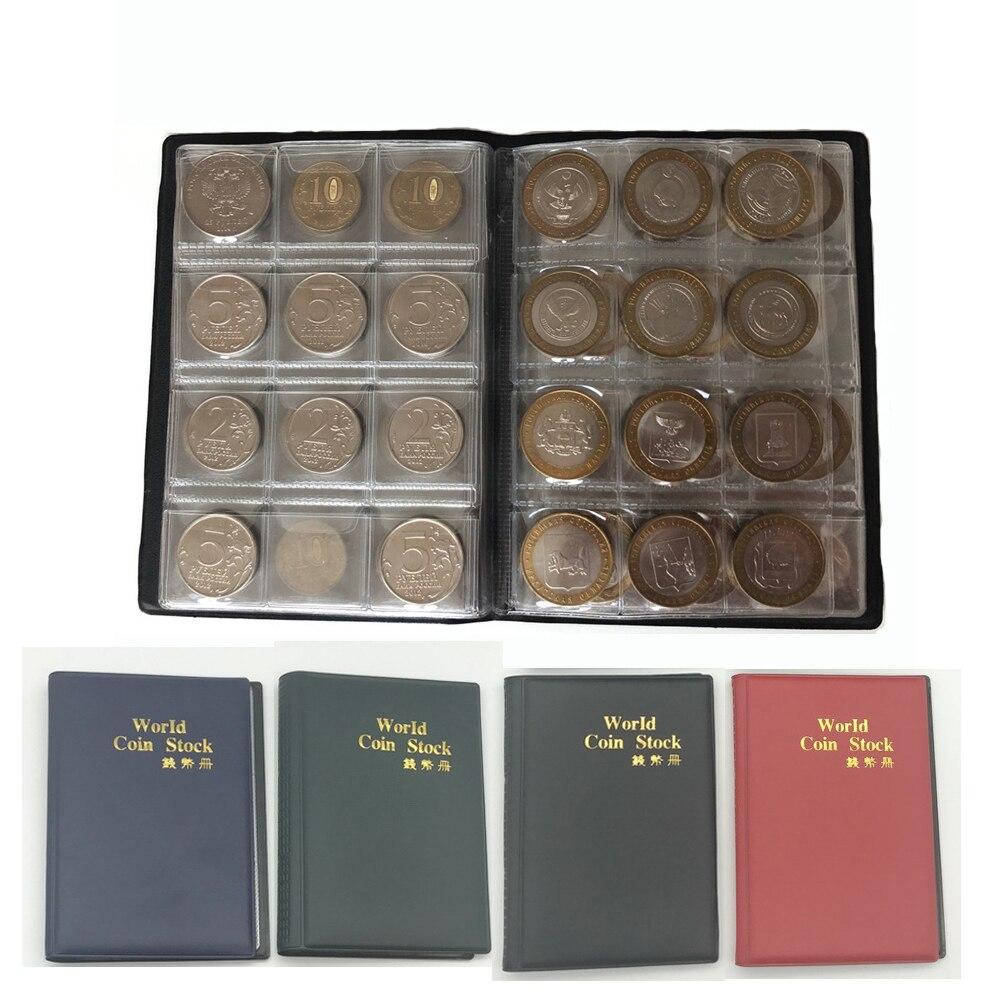 10 Seiten 120/60 Taschen Album Für Münzen Sammlung Buch Dekoration Fotoalbum Pvc Münze Album Halter Sammlung Buch