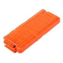 12 Reload Clip Magazines Round Darts Toy Gun Orange Soft Bullet Clip Replacement Plastic For Nerf N-Strike EVA Bullets Clips