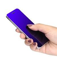 Ulcool v36電話でスーパーミニ超薄型カードメタルボディブルートゥース2.0