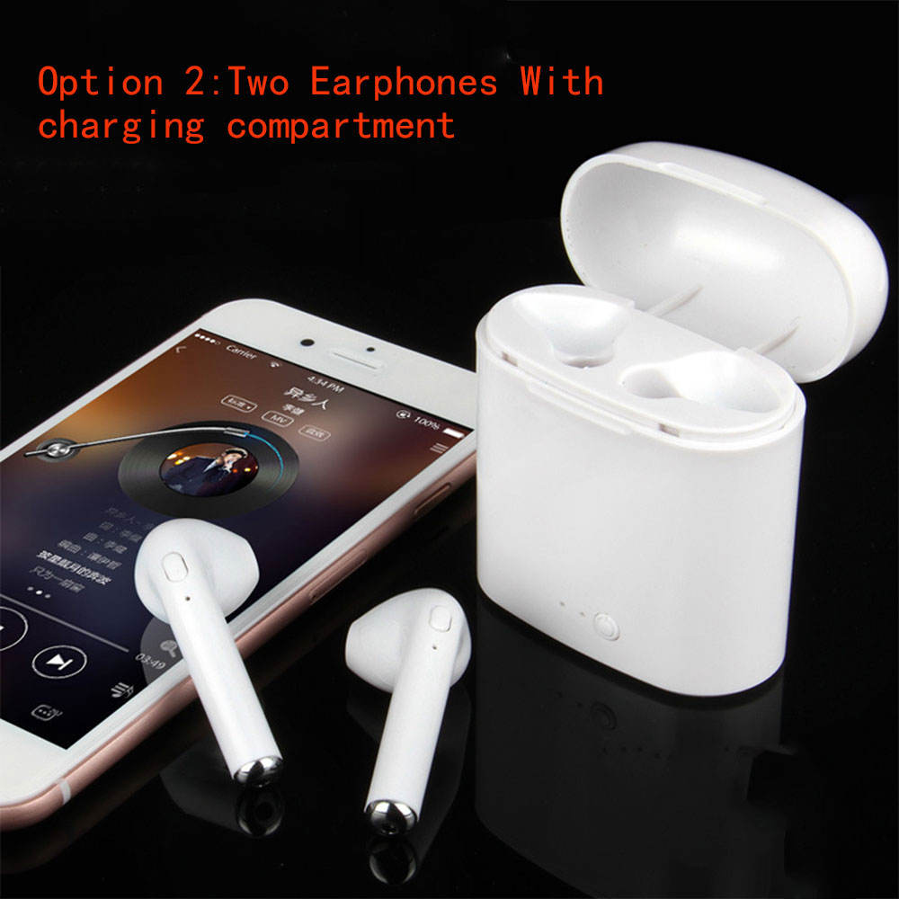 Wireless Bluetooth Earphone i7 Twin Earbuds With Charging <font><b>Case</b></font> LED display Mobile Power &#038; <font><b>Case</b></font> Headset in ear Mini earphones